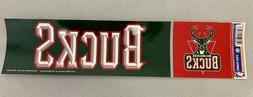 Milwaukee Bucks Vibrant Official NBA Team Logo Bumper Sticke