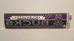 MILWAUKEE BUCKS   Vintage Team Bumper Sticker  Decal Strip