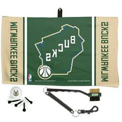 WinCraft Milwaukee Bucks Waffle Towel Golf Gift Set
