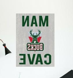 Milwaukee Bucks Wall Decal NBA Sport Logo Vinyl Design Man C