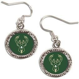 Milwaukee Bucks WinCraft Women's Round Dangle Earrings