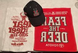 Milwaukee Bucks hat and two rally towels