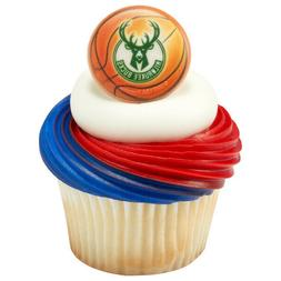 NBA Cake Toppers Milwaukee Bucks Cupcake Rings Basketball