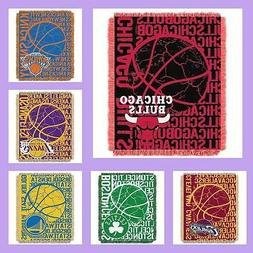 NBA Licensed Triple Woven Jacquard Afghan Throw Blanket - Ch