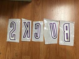 "NBA Milwaukee Bucks 5 Piece Letter Embroidered Patch Set 5"""