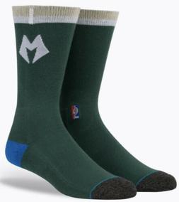 STANCE NBA Milwaukee Bucks Arena Logo Green Gold Casual Crew