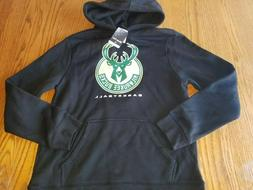 NBA Milwaukee Bucks Basketball Black Hoodie Hooded Sweatshir
