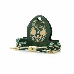 Rastaclat NBA Milwaukee Bucks Green Tan Basketball Shoelace