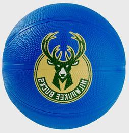 NBA Milwaukee Bucks spalding mini rubber basketball blue col