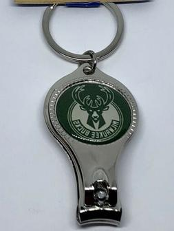 NBA Milwaukee Bucks Multi Function Key Ring Bottle Opener/Na