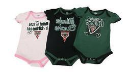 NBA Milwaukee Bucks Official Girls Infant Size 3 Piece Creep