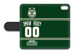NBA Milwaukee Bucks Personalized Name/Number iPhone iPod Wal