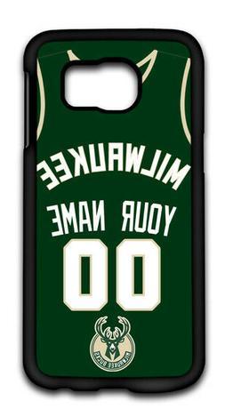 NBA Milwaukee Bucks Personalized Name/Number Samsung Phone C