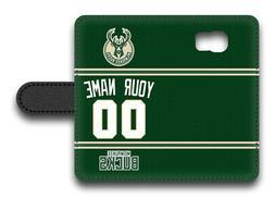 NBA Milwaukee Bucks Personalized Name/Number Samsung Phone W
