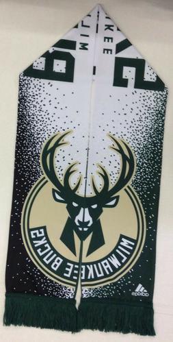 NBA Milwaukee Bucks Adidas Silky Feel Fringe Scarf Style #S6
