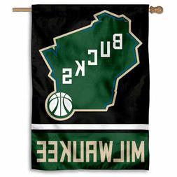NBA Milwaukee Bucks State of Wisconsin House Flag and Banner