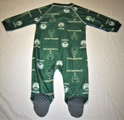 NBA Milwaukee Bucks Team Print Sleepwear Zip Up Coverall, Dk