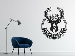 NBA Milwaukee Bucks Wall Decal Vinyl Basketball Team Room St
