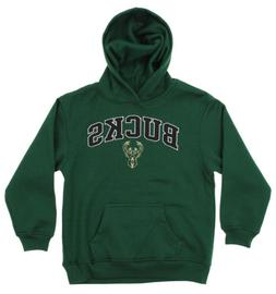 OuterStuff NBA Youth Milwaukee Bucks Fleece Pullover Hoodie,