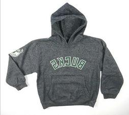 NEW BOYS EXCLUSIVE COLLECTION BLACK MARLED MILWAUKEE BUCKS H