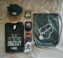NEW Milwaukee Bucks VIP Fan Pack Backpack with Accessories!