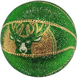 NEW NBA Milwaukee Bucks Basketball V1 Made with Swarovski®