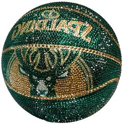 NEW NBA Milwaukee Bucks Basketball V2 Made with Swarovski®