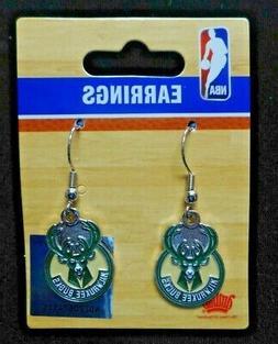 NEW NBA Milwaukee Bucks Logo Pierced Earrings