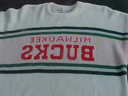 NWT MILWAUKEE BUCKS BRAND SWEATER NBA SIZE MED BY CLIFF ENGL