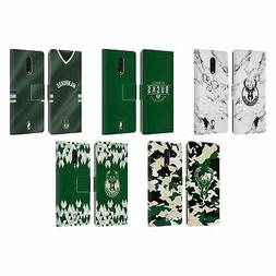 OFFICIAL NBA 2018/19 MILWAUKEE BUCKS LEATHER BOOK CASE FOR B