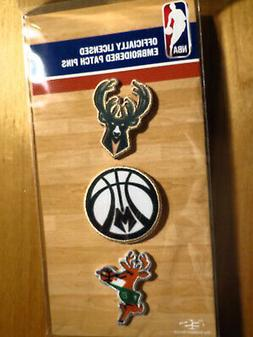 Official Licensed NBA Milwaukee Bucks Embroidered Patch Pin