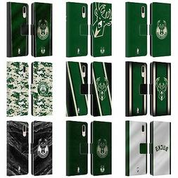 OFFICIAL NBA MILWAUKEE BUCKS LEATHER BOOK CASE FOR HUAWEI PH