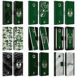 OFFICIAL NBA MILWAUKEE BUCKS LEATHER BOOK WALLET CASE FOR MO