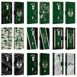 OFFICIAL NBA MILWAUKEE BUCKS LEATHER BOOK WALLET CASE COVER
