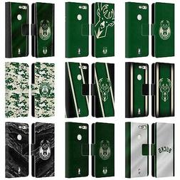 OFFICIAL NBA MILWAUKEE BUCKS LEATHER BOOK WALLET CASE FOR GO