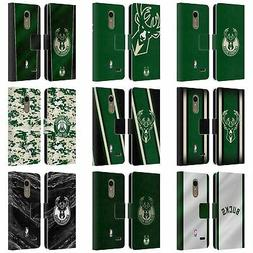 OFFICIAL NBA MILWAUKEE BUCKS LEATHER BOOK WALLET CASE FOR LG