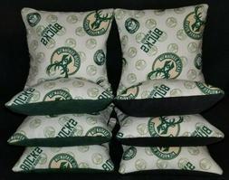 Set of 8 Milwaukee Bucks Cornhole Bags ***FREE SHIPPING***