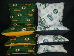 Set of 8 Milwaukee Bucks Green Bay Packers Cornhole Bags ***