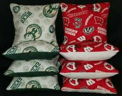 Set of 8 Milwaukee Bucks Wisconsin Badgers Cornhole Bags ***