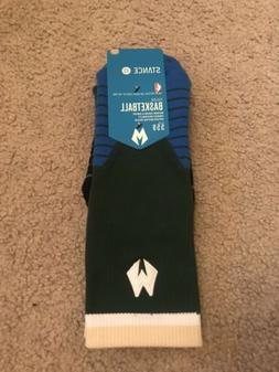 Stance Fusion 559 NBA Milwaukee Bucks Basketball Crew Socks