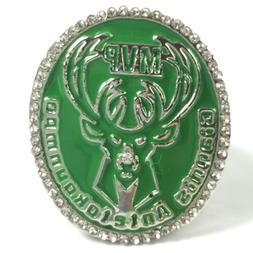 USA Milwaukee Bucks 2018 Giannis Antetokounmpo Silver Finals