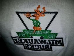 Vintage 90s Milwaukee Bucks NBA Polo Golf Shirt 1993 25th An