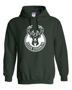 Vintage Milwaukee Bucks Hoodie Sweater Retro Logo, Brand New