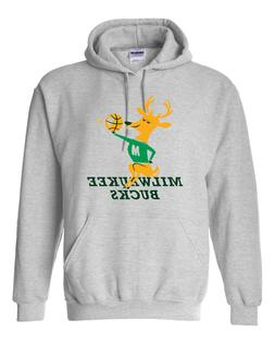 Vintage Milwaukee Bucks Hoodie Sweater Super Soft Throwback