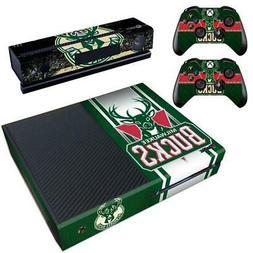 Xbox one Kinect Console Milwaukee Bucks NBA Vinyl Skin Decal