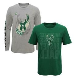 Youth Boys Milwaukee Bucks Tee Shirt 3 in 1 Combo Set