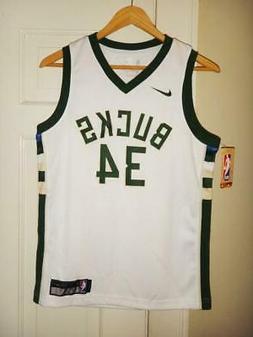 Youth Nike Giannis Antetokounmpo #34 Milwaukee Bucks White S